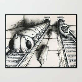 Subway Caterpillars  Canvas Print