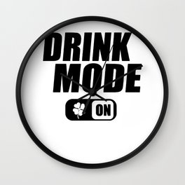 St. Patrick's Day drinking mode clover gift Wall Clock
