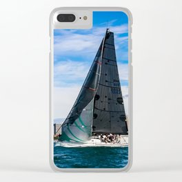 Winter Yachting on Sydney Harbour. Australia Clear iPhone Case