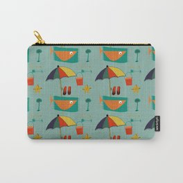 Fish at the beach blue Carry-All Pouch
