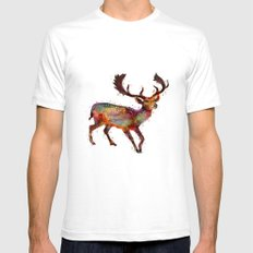 Oh deer ! Mens Fitted Tee White SMALL