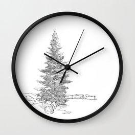 North American fir tree  Wall Clock