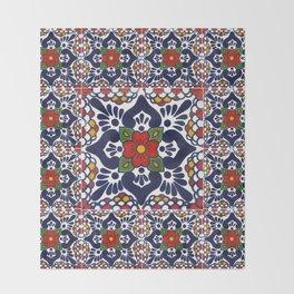 talavera mexican tile pattern Throw Blanket