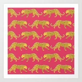 The New Animal Print - Berry Art Print