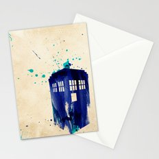 Doctor Who TARDIS Rustic Stationery Cards