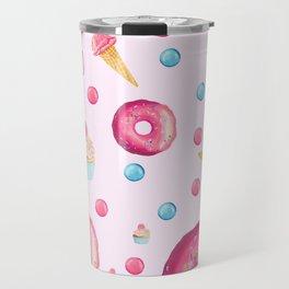 Sugar Sweet Tooth Pink Travel Mug