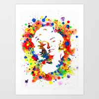 marylin monroe Art Prints featuring Marylin Monroe by Psyca