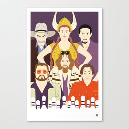 Around The Dude (Faces & Movies) Canvas Print