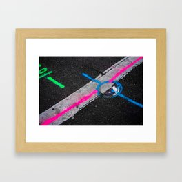 street paint Framed Art Print