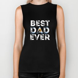 Best Dad Ever Argentina Proud Argentine Father's Logo Biker Tank