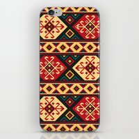 kilim iPhone & iPod Skins featuring Colorful Kilim by Pattern Design