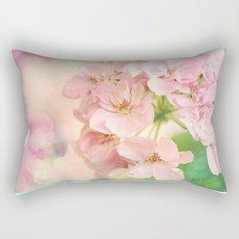 Candy Pink, Lime Green, Vanilla Cream Rectangular Pillow