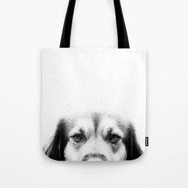Dog portrait in black & white Tote Bag