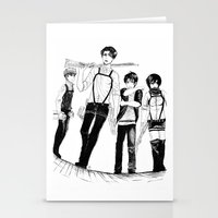 levi Stationery Cards featuring Squad Levi by PaigeAWArt