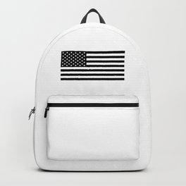 Black And White Stars And Stripes Backpack