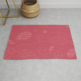 Curly Textured Abstract in Berry Blush Rug