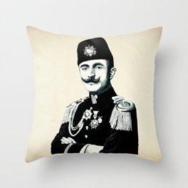 The Officer Kitty Throw Pillow
