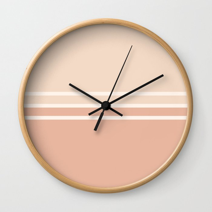 Lines Rose Wall Clock