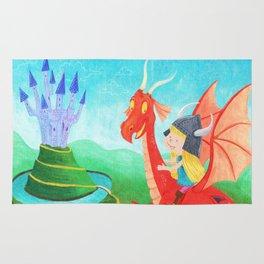 The Girl and The Dragon Rug