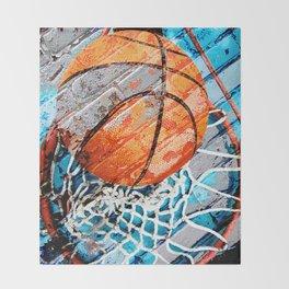 Modern basketball art 3 Throw Blanket