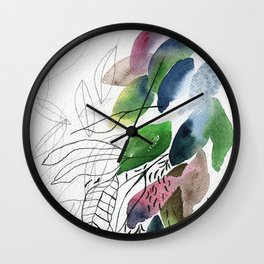 Leaves gone Wall Clock