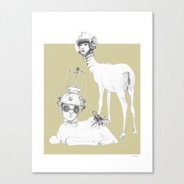 Weird & Wonderful: Space Deer Canvas Print
