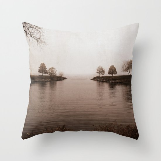 Winter's Breath is Here Throw Pillow