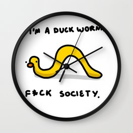 Duck Worm | Veronica Nagorny Wall Clock
