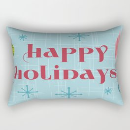 Mid Century Happy Holidays Rectangular Pillow