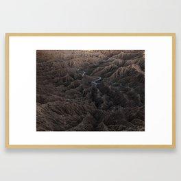 Borrego Badlands Framed Art Print