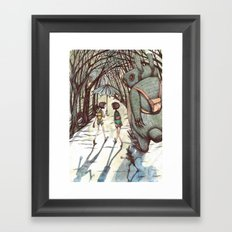 back to skool Framed Art Print