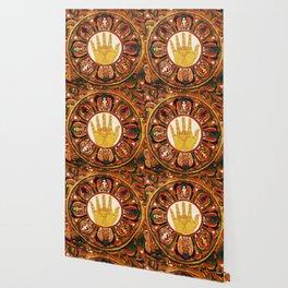 Buddhist Hindu Healing Hand Mandala Wallpaper