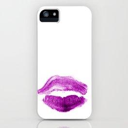 Fuchsia Lips iPhone Case