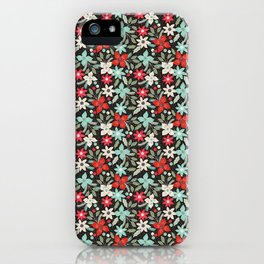 Floral Holiday Seamless Design iPhone Case
