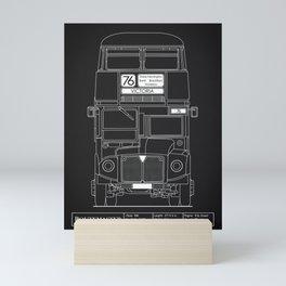 The Routemaster London Bus Blueprint Mini Art Print