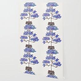 Bonsai Tree – Navy Palette Wallpaper