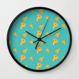 Pizza slices   Pattern Wall Clock