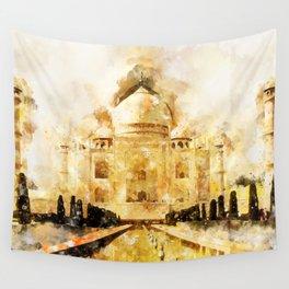 Taj Mahal Painting Wall Tapestry