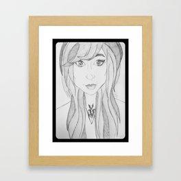 Pretty Girl. Framed Art Print