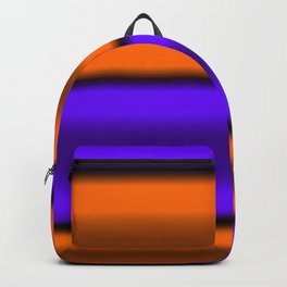 Orange & Purple Horizontal Stripes Backpack