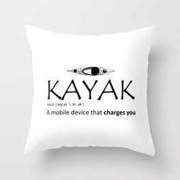 Kayak, A Mobile Device That Charges You Throw Pillow