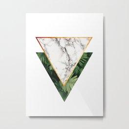 Geometric Tropical Marble Metal Print