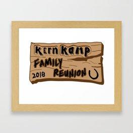 Kern Family Reunion 2018 Framed Art Print