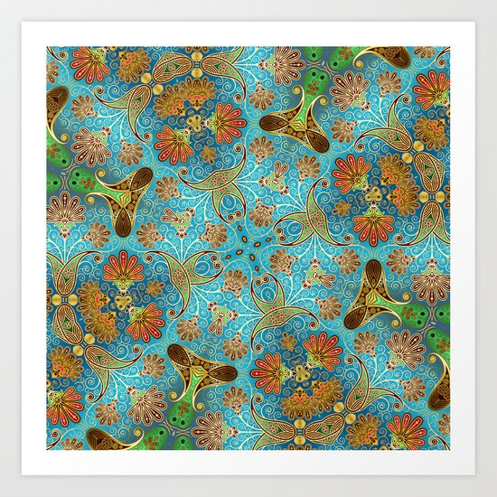 Indian Floral Art Print