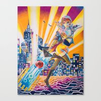 transistor Canvas Prints featuring Transistor by Sienna Coppa