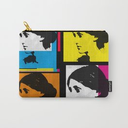 VIRGINIA WOOLF (FUNKY COLOURED COLLAGE) Carry-All Pouch