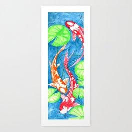Koi's In Pond Art Print