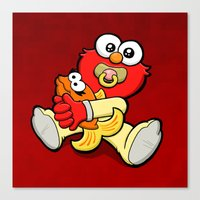 elmo Canvas Prints featuring Baby Elmo & Dorothy by BinaryGod.com