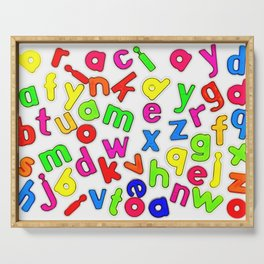 Jumbled up Multi Coloured Letters Serving Tray