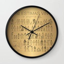 The Postmodern Pioneer Plaque Wall Clock